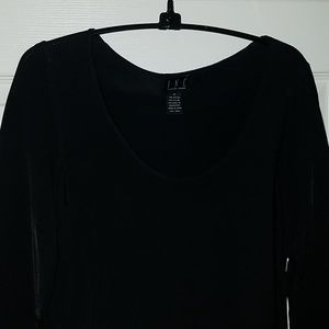 Cute black tunic with cut out sleeves